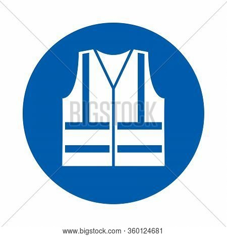 High Visibility Vest Must Be Worn. M015.  Standard Iso 7010