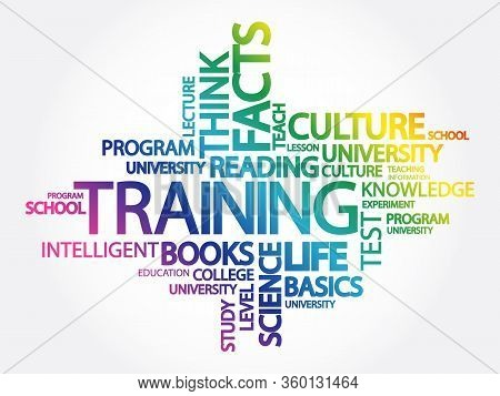 Training Word Cloud Concept With Great Terms Such As Classroom, Education, Trade, Vocational, Knowle