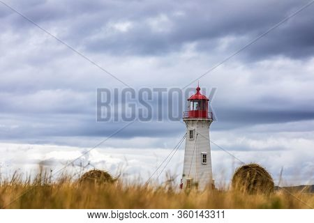 The Anse A La Cabane, Or Millerand Lighthouse Of Havre Aubert, In Iles De La Madeleine, Or The Magda