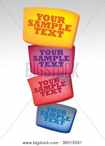 Vector Illustration Of Colors Boxes