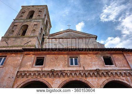 Church Exterior In Nepi, Italy