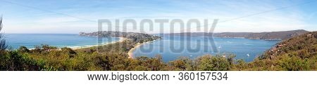 A Panoramic View Of The Scenic Landscape Of The Palm Beach In Sydney, Australia