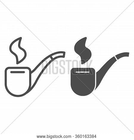 Patrick Tobacco Pipe Line And Solid Icon. Smoking Pipe Or Snorkel Outline Style Pictogram On White B