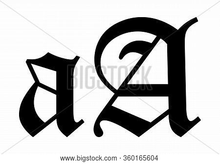 Vintage Lowercase And Uppercase A Letter Illustration