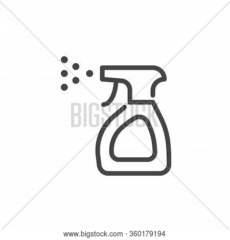 Outline Icon Disinfection Anti-bacterial Alcohol Agent, Sanitizer