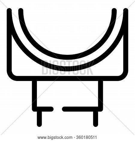 Pipeline Gutter Icon. Outline Pipeline Gutter Vector Icon For Web Design Isolated On White Backgroun