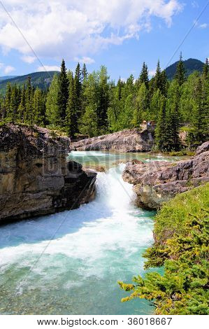 Waterfall in the Canadian Rockies
