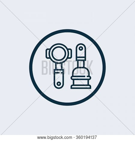 Portafilter Icon Vector From Coffee Collection. Thin Line Portafilter Outline Icon Vector Illustrati