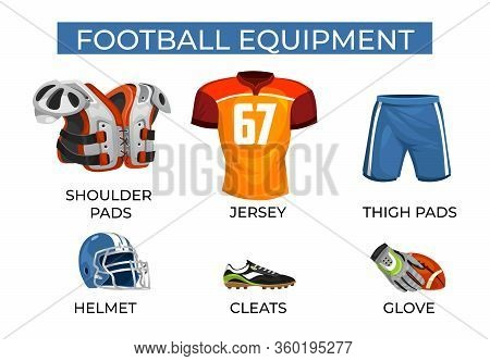 Special Equipment For Professional Football Player Set