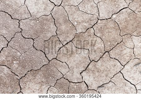 Cracked Earth Due To Lack Of Water In The Municipality Of Monforte Del Cid, Alicante Spain.