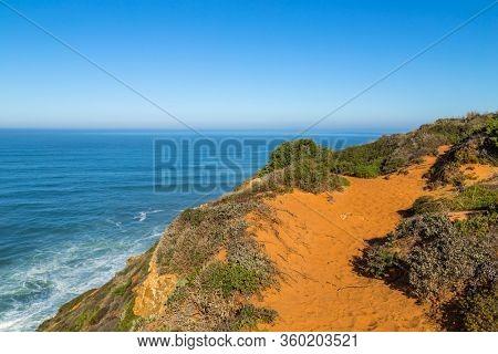 Atlantic rocky coast view, Alentejo, Portugal.