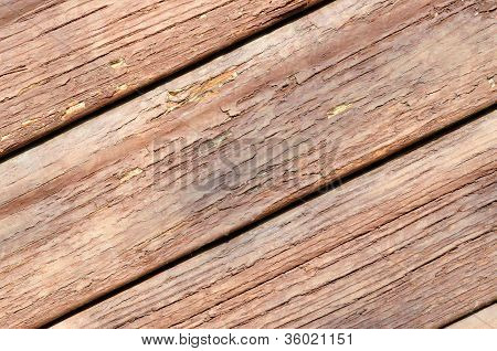 Boards With Peeling Paint