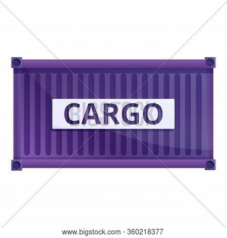Storage Cargo Container Icon. Cartoon Of Storage Cargo Container Vector Icon For Web Design Isolated