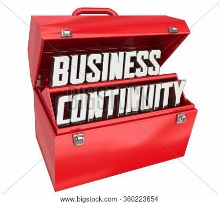 Business Continuity Crisis Response Plan Recovery Toolbox Resources 3d Illustration