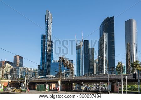 Melbourne, Australia - December 4: Skyscrapers Of The South Melbourne On December 4, 2018 In Melbour