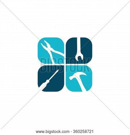 Home Repair Logo Vector Design Image