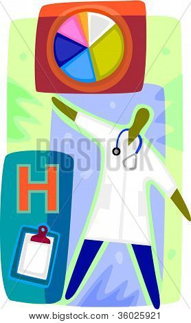 A Graphic Representation Of A Doctor