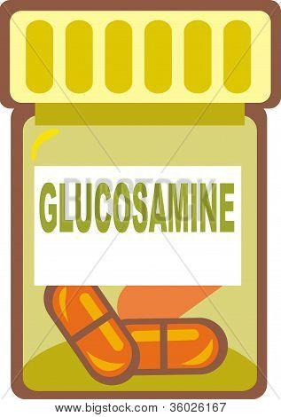 Illustration Of Glucosamine Pills