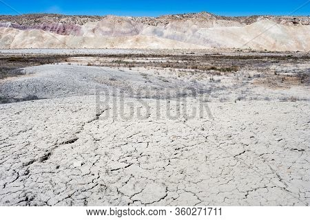 Scenic Badlands Along State Route 24 Near Caineville - Utah, Usa