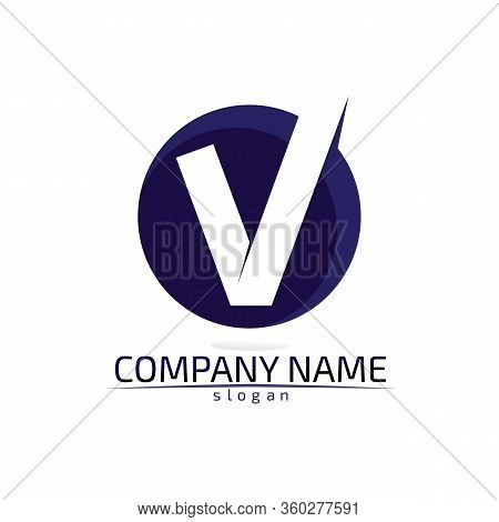 V Logo Corporate Design Vector V Letters Business Logo And Symbols Template