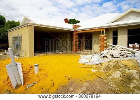 House Construction In The Suburbs - Australia