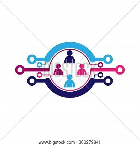 Stock Conceptual Design Of Social Media Networks And Interpersonal Communications. Isolated On A Whi