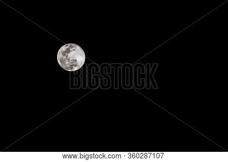 Super Pink Moon 2020: The Super Pink Moon Glow In The Night Sky And Evening People To See Super Moon