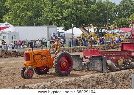 Orange Minneapolis Moline Tractor Pulling Tracks