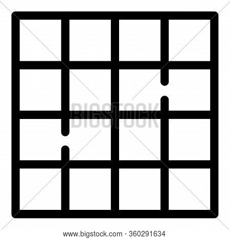 Square Paving Icon. Outline Square Paving Vector Icon For Web Design Isolated On White Background