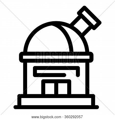 Study Planetarium Icon. Outline Study Planetarium Vector Icon For Web Design Isolated On White Backg