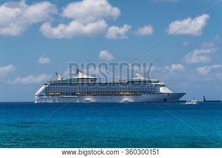 George Town, Grand Cayman Islands, United Kingdom - April 23, 2019: Cruise Ship Adventure Of The Sea