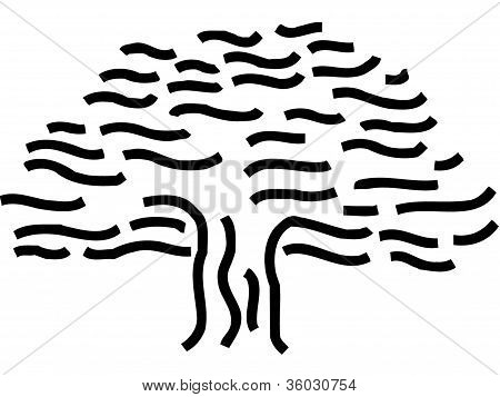 Drawing Of A Wavy Tree
