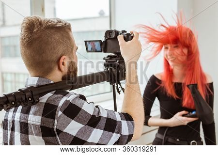 Video Production, Shooting Advertising And Content For Social Networks - Operator Working With A Cam