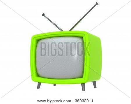 retro TV Set. Isolated
