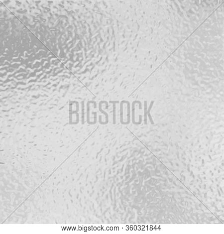 Transparent, Matte White And Grey Frosted Glass, Blur Effect. Stained Glass Decorative Background. V