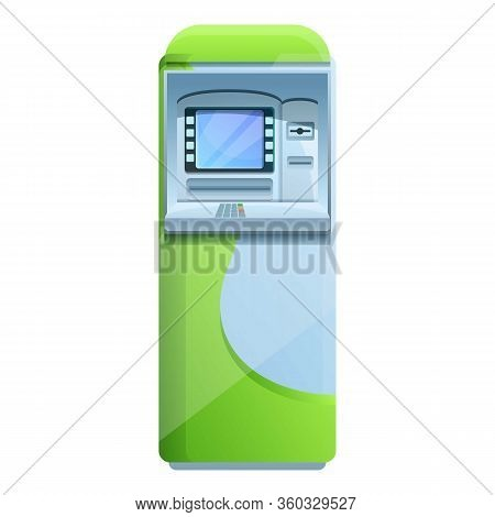 University Atm Machine Icon. Cartoon Of University Atm Machine Vector Icon For Web Design Isolated O