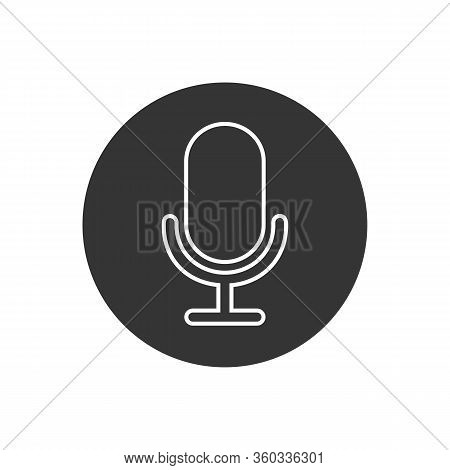 Mic Line Icon Vector. Mic Vector Graphic Illustration