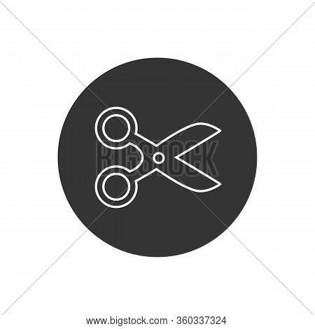 Scissors Line Icon In Trendy Flat Style. Scissors Icon Page Symbol For Your Web Site Design. Scissor