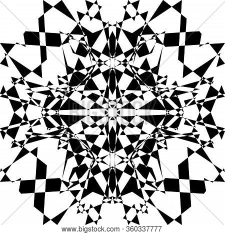Abstract Arabesque Shield Like Developement Project Design Black On Transparent Seamless Plaid Backg