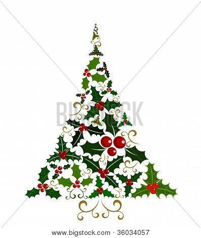 Holly Christmas Tree