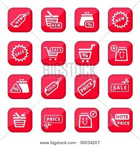 Online Shopping Icon Set