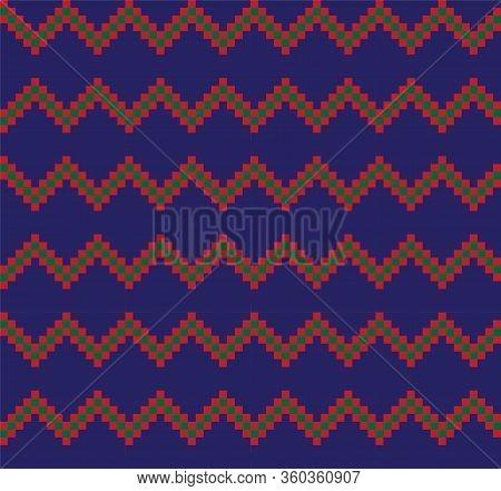Colorful Classic Modern Chevron Seamless Pattern
