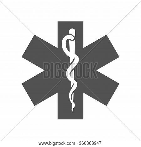 Pharmacy And Prescription Icon Set - Mortar And Pestle, Star Of Life, Pills, And Caduceus
