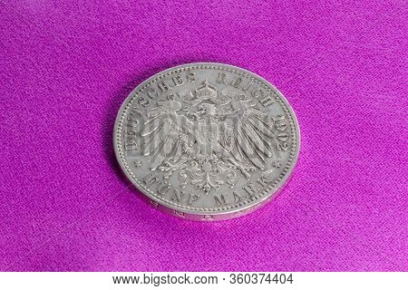 Silver Coin Of The Early 20th Century, German Empire, Saxony, 5 Marks Of 1902,