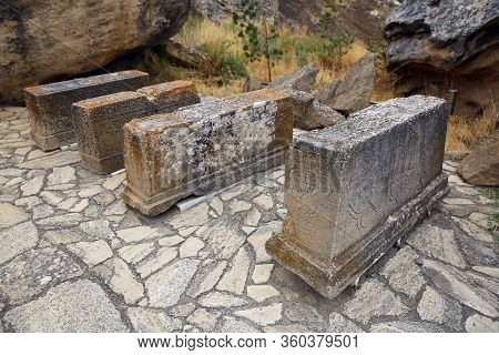 Gobustan National Park, The Oldest Settlement In Azerbaijan, Is Protected By Unesco. Gobustan, Azerb