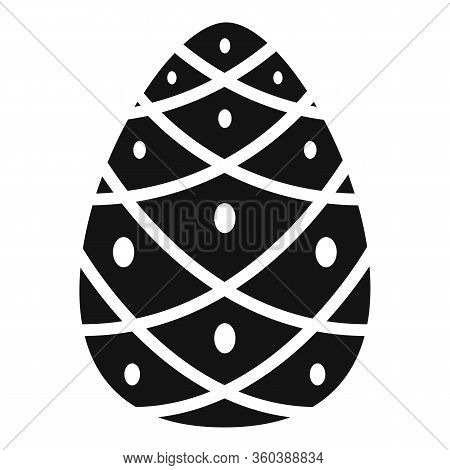 Cedar Pine Cone Icon. Simple Illustration Of Cedar Pine Cone Vector Icon For Web Design Isolated On