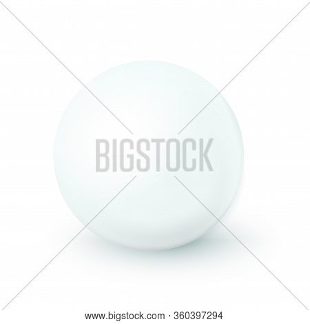 Sphere, White Ball. Mock Up Of Clean Round The Realistic Object, Orb Icon. Design Decoration Round S
