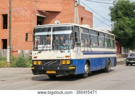 Borisoglebsk, Russia - July 28, 2009: Intercity Coach Bus Ikarus 256 In The City Street.