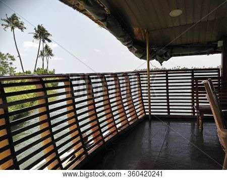 House Boat Hand Rails In House Boat Riding Through Vembanad Lake