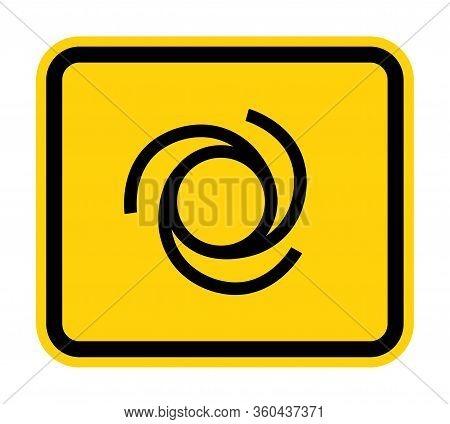 Beware Automatic Start-up Symbol Sign Isolate On White Background,vector Illustration Eps.10